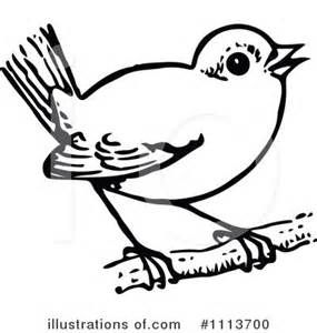 Clip art teaching unit. Bird clipart black and white