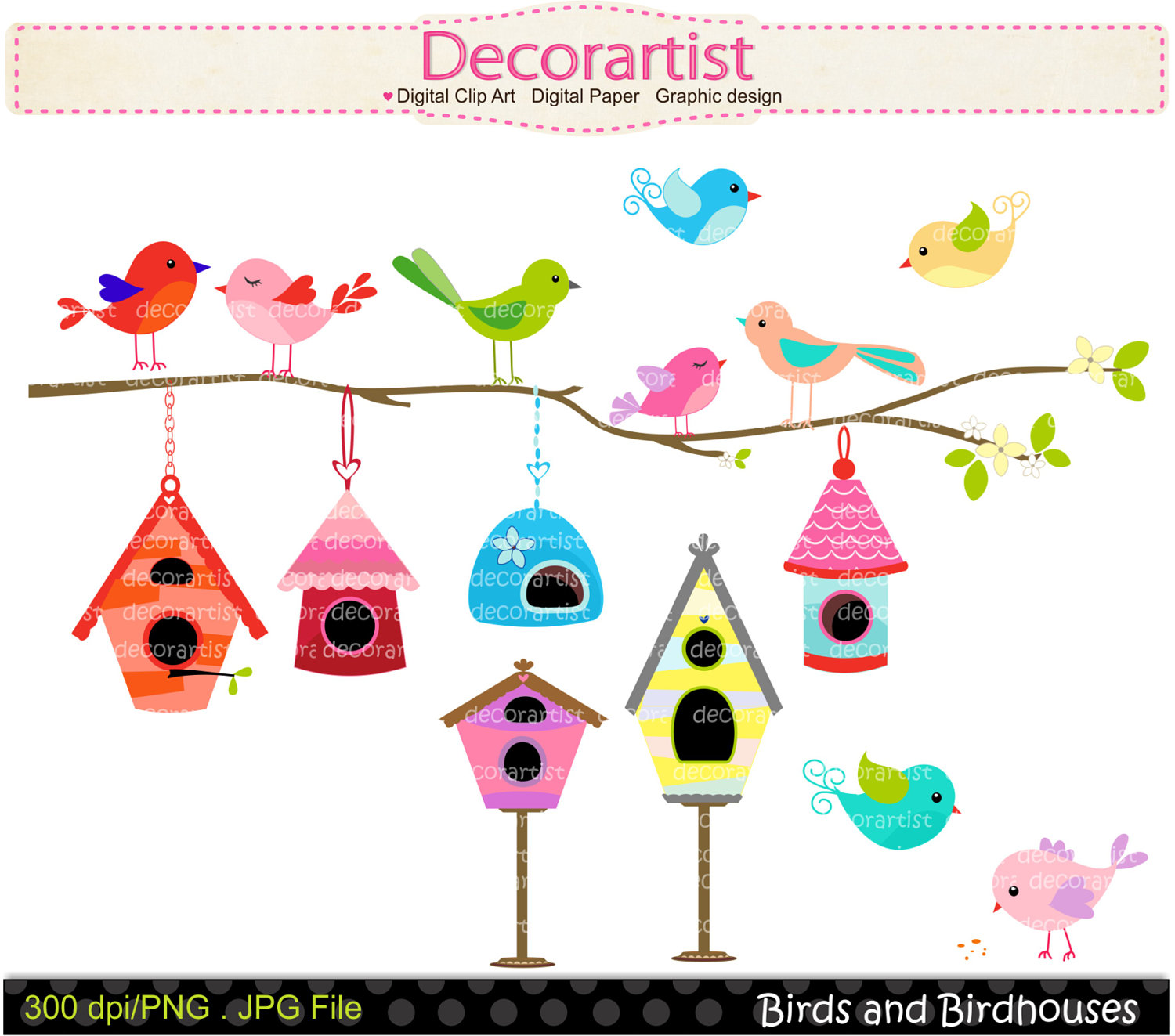 Birdhouse clipart whimsical. Free border cliparts download