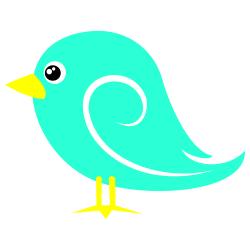 Light blue clip art. Bird clipart boarder