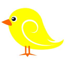 Bird clipart boarder. Yellow clip art free