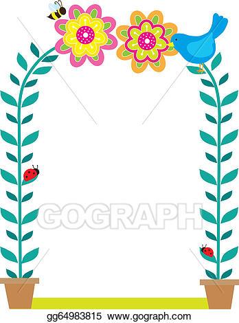 Vector art border eps. Bird clipart boarder