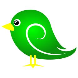Green clip art free. Bird clipart borders