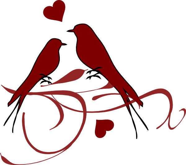 Birds on a clip. Bird clipart branch