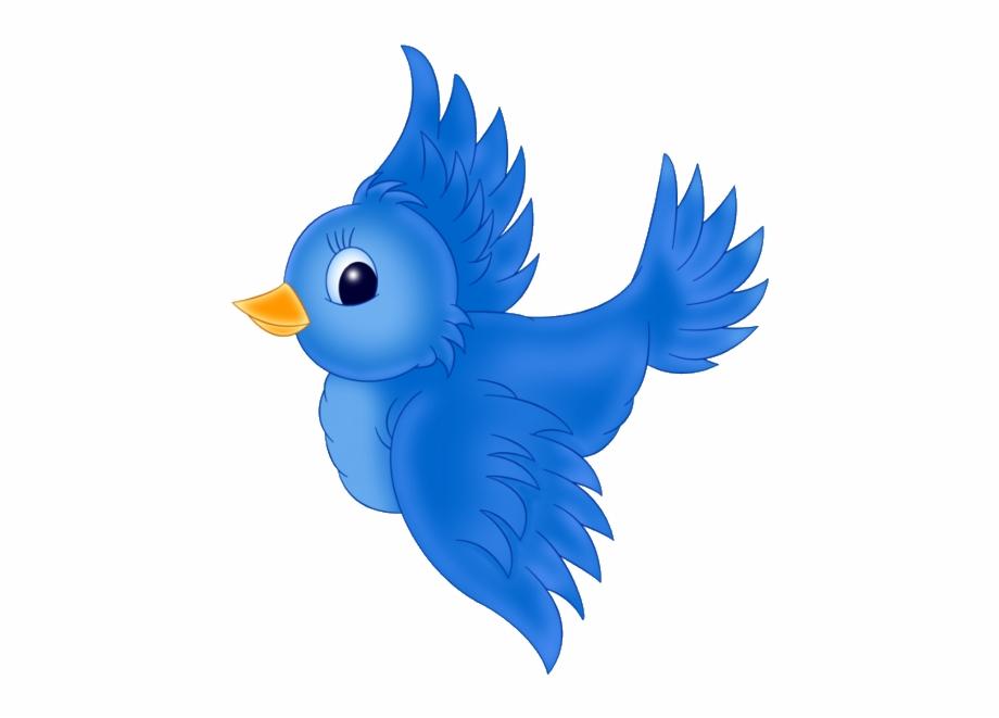 Bird clipart cartoon. Large blue png cute