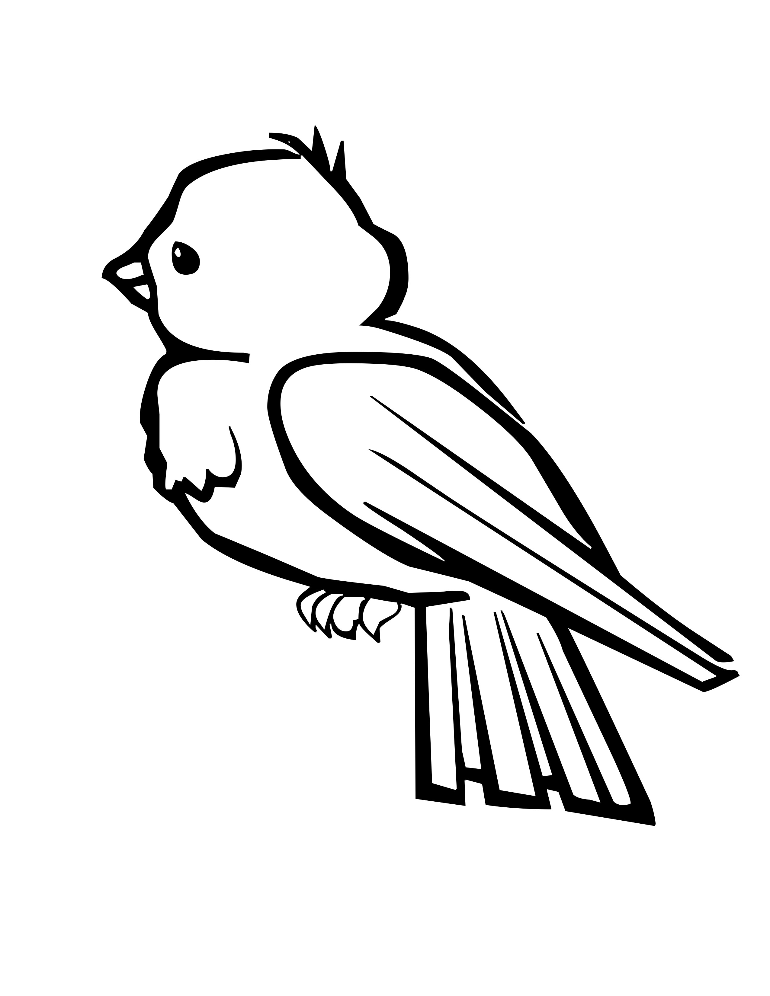 Pages free download best. Bird clipart coloring