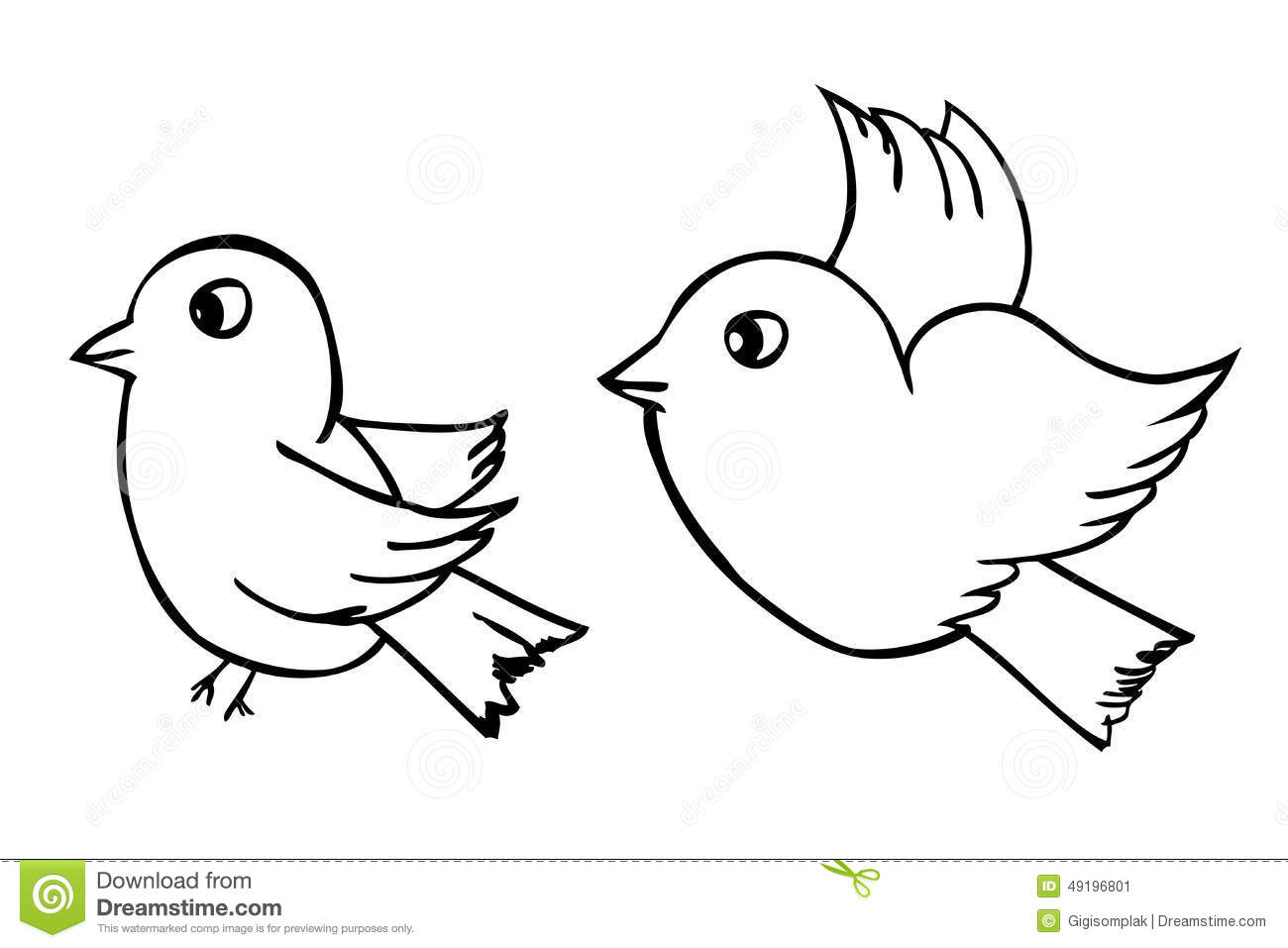Competitive outline drawing delivered. Bird clipart coloring