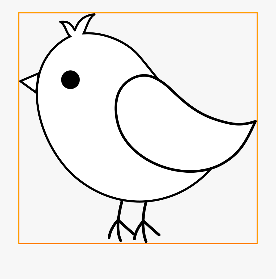 Cute black and white. Bird clipart coloring
