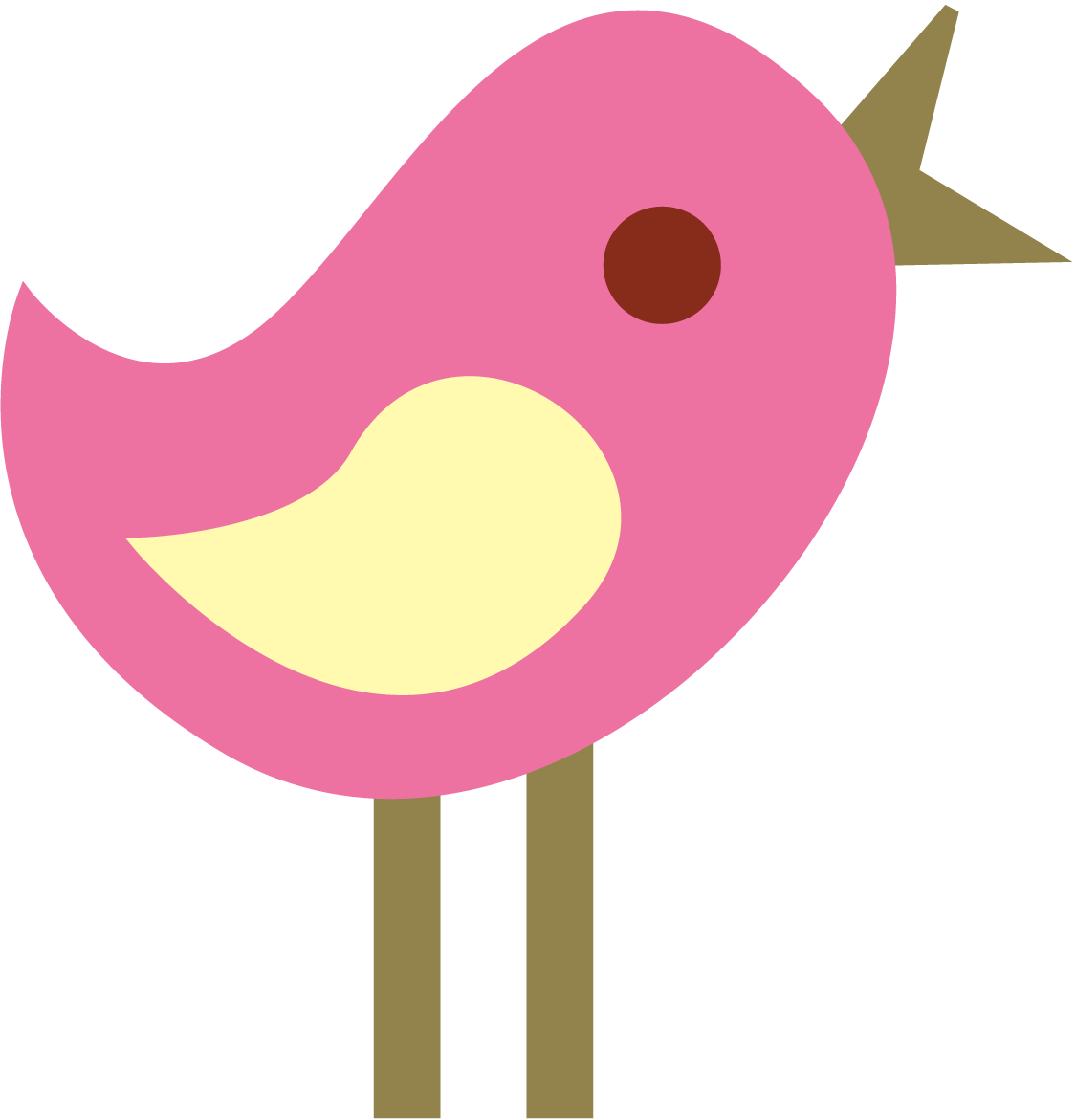 Cute tweet birds clip art