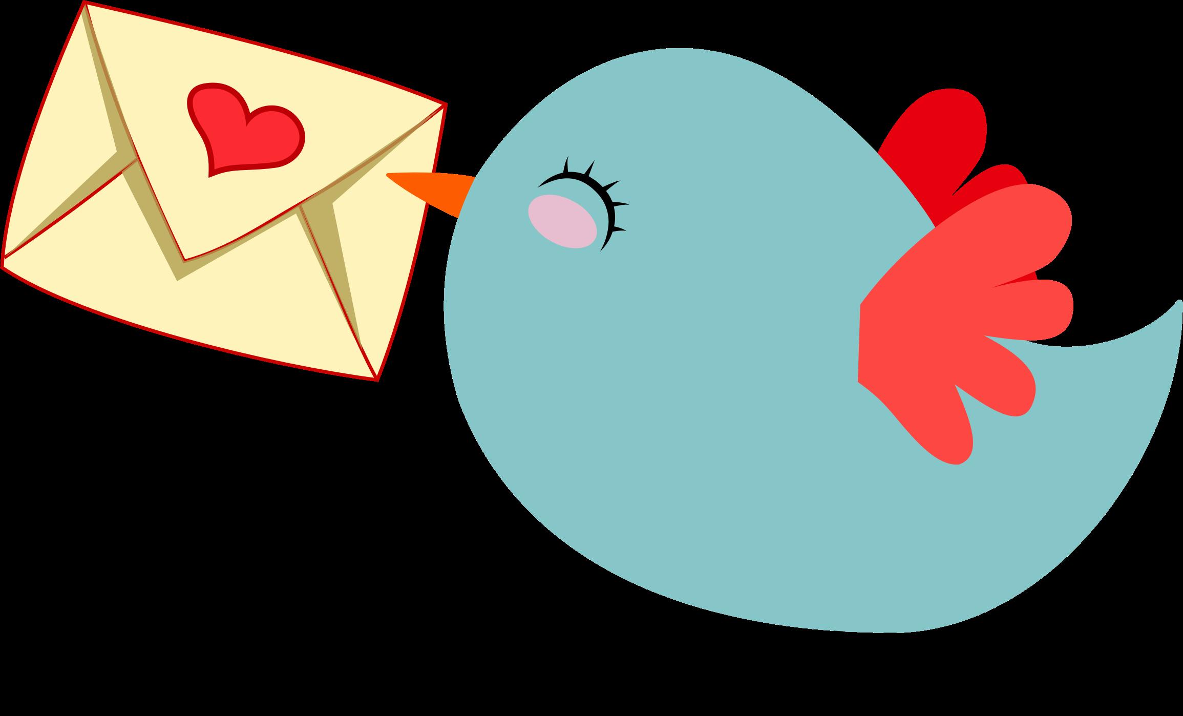 E clipart cute. Mail carrier bird big