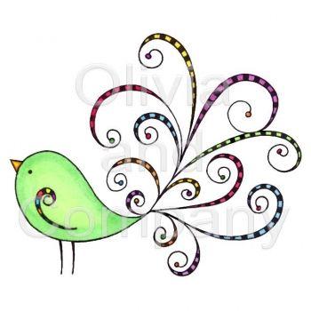 Bird clipart doodle.  best applique birds