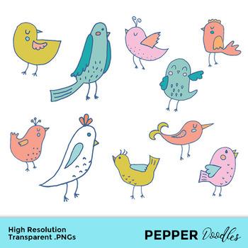 Birds transparent pngs . Clipart bird doodle