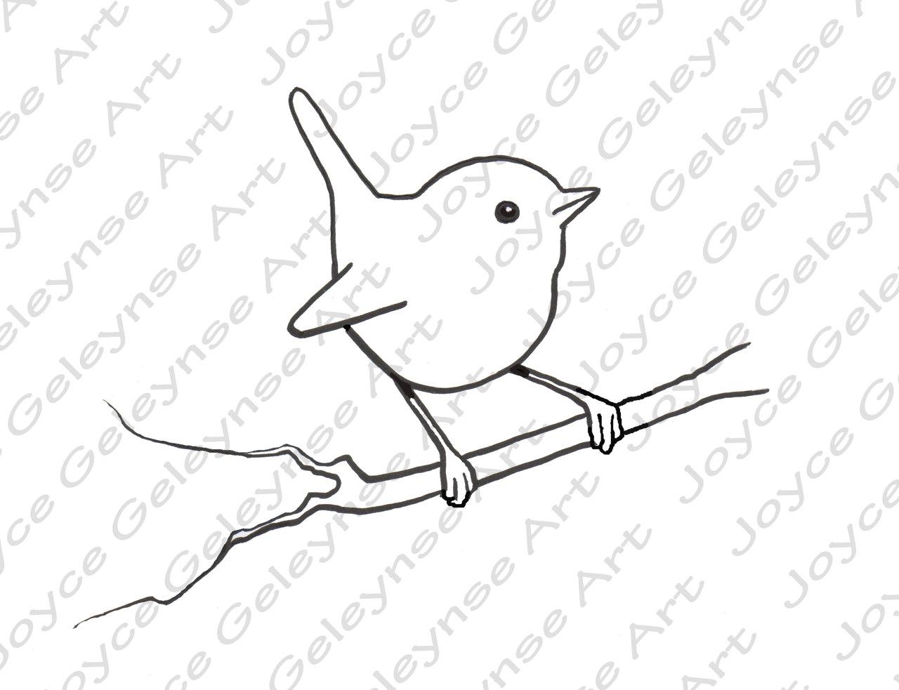 Bird clipart easy. Digital stamp clip art