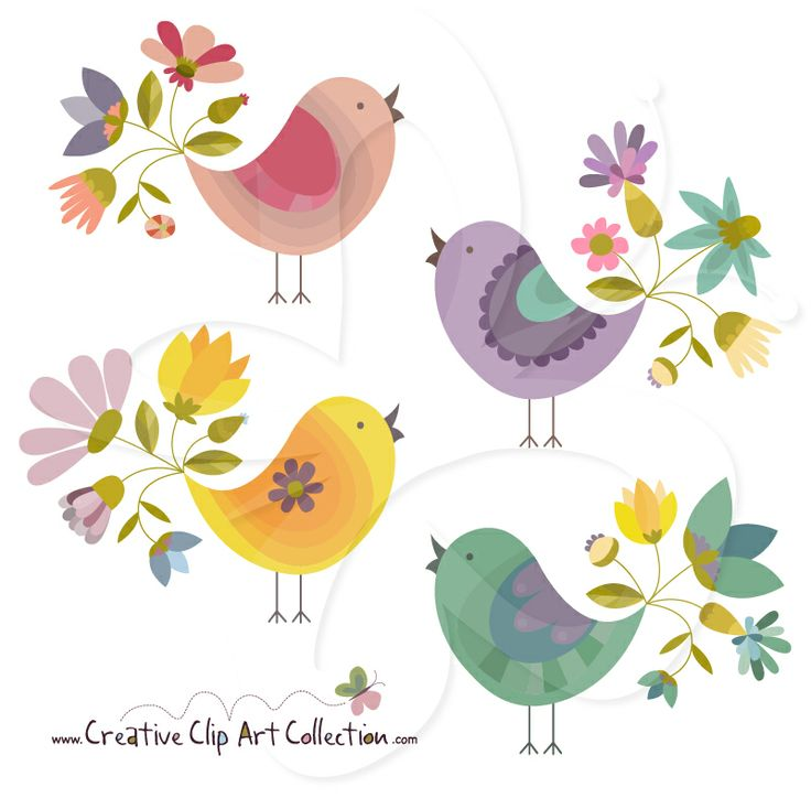 best clip art. Bird clipart flower