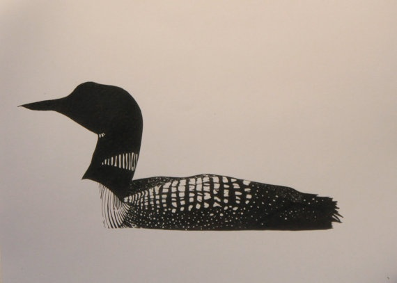 Bird clipart loon.  best tattoos images