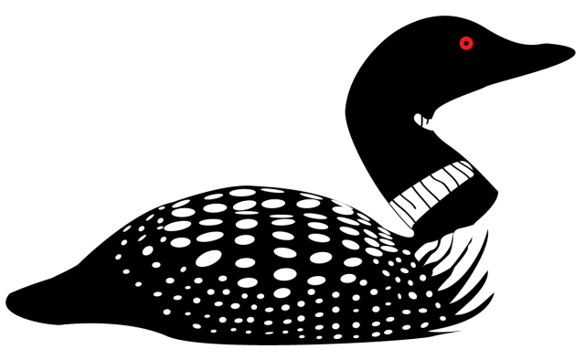 Clip art cricut scal. Bird clipart loon