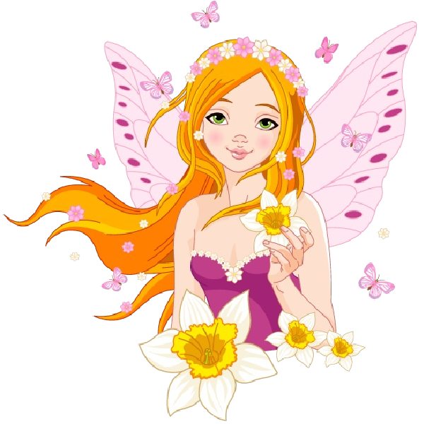 Fairy golden fairies cartoon. Bird clipart magical