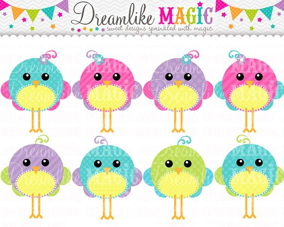 Bird clipart magical.  best uccellini images