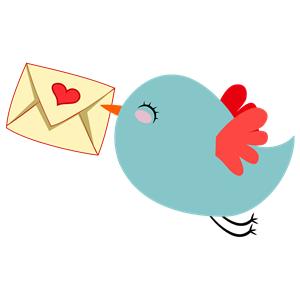 Cute carrier bird cliparts. Birds clipart mail
