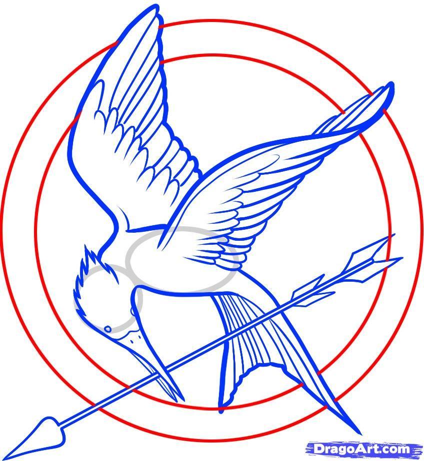 Birds clipart mockingjay. How to draw the