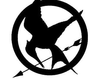 Bird clipart mockingjay. Hunger games decal etsy