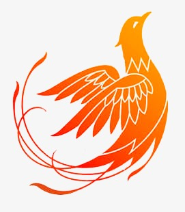 Logo red animal png. Bird clipart phoenix
