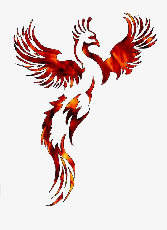 Bird clipart phoenix. Red myth png image