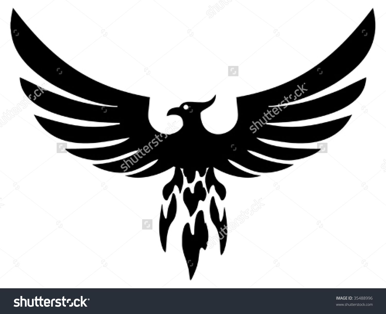 Bird clipart phoenix. Stock vectors vector clip