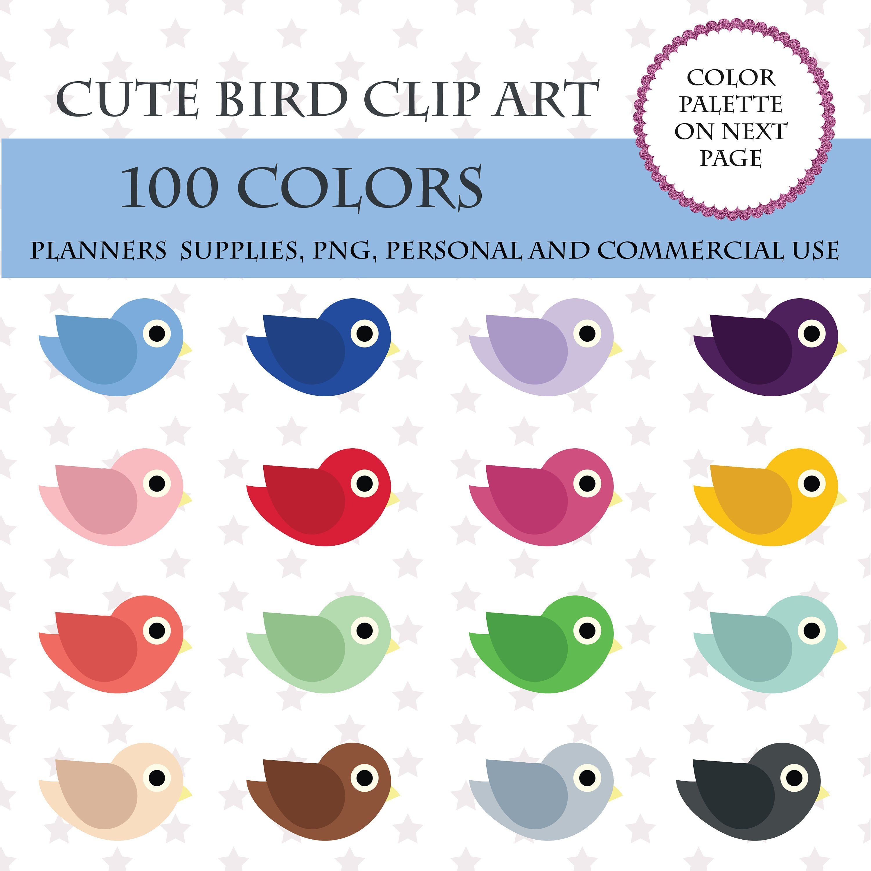 colors clip art. Bird clipart printable