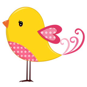 Bird clipart printable. Pink and yellow birds