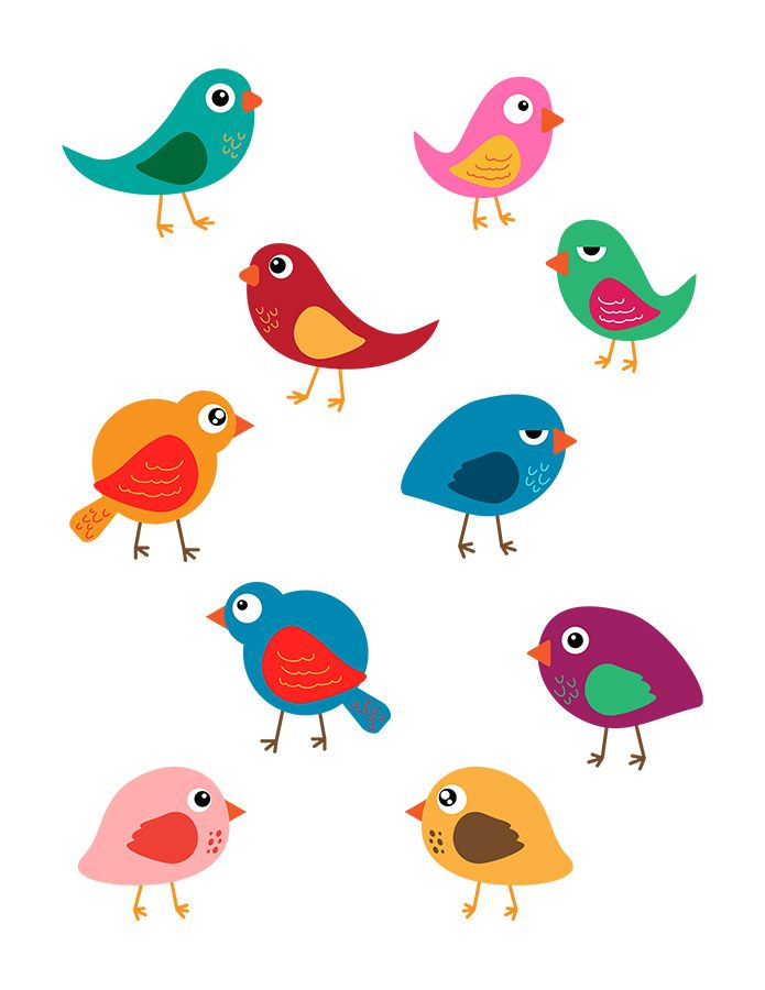Bird clipart printable.  birds cute digital
