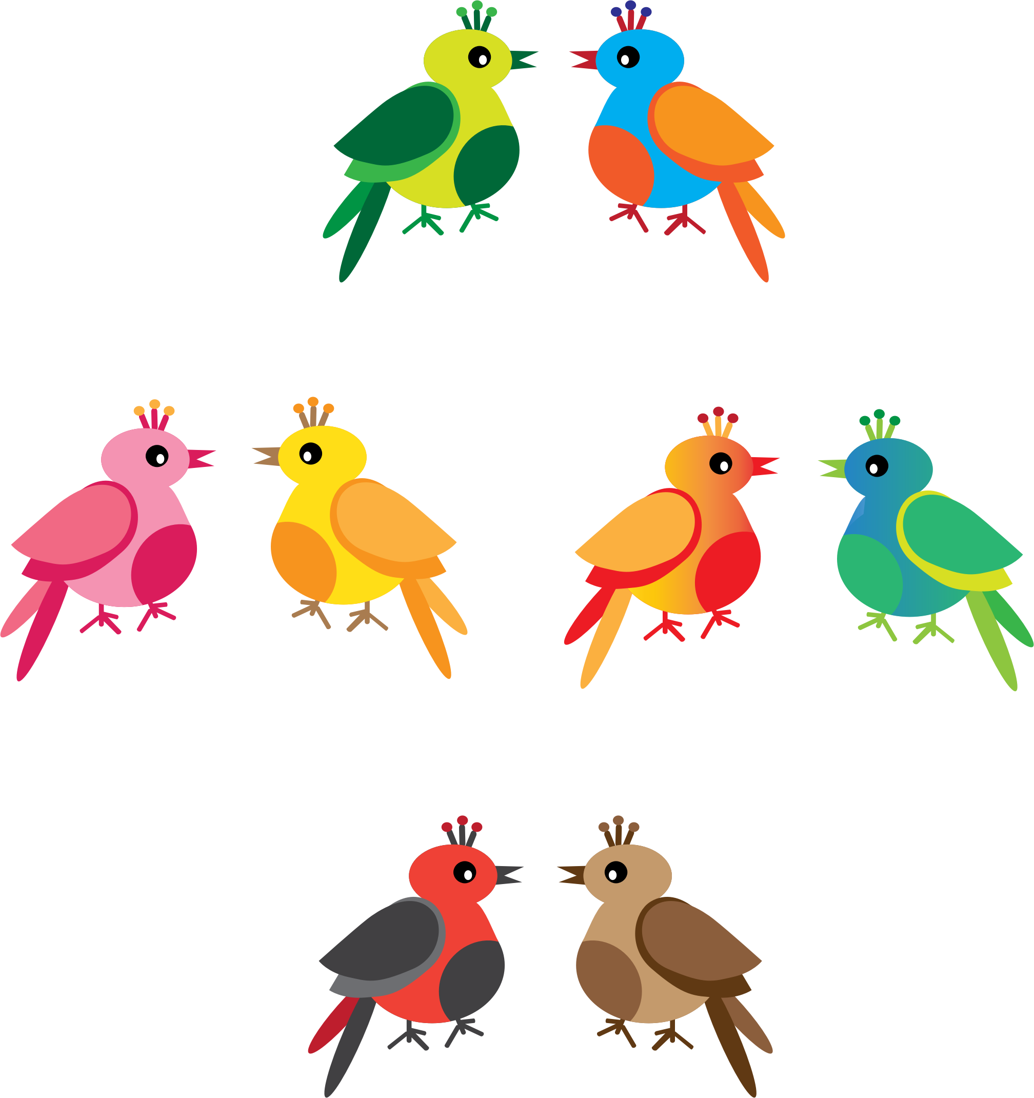 Birds icons png free. Bird clipart rainbow