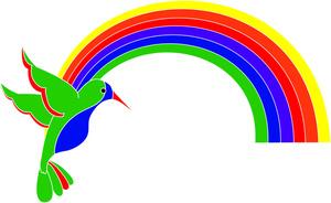 Free tropical image hummingbird. Birds clipart rainbow