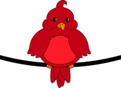 Free clip art vector. Cardinal clipart red robin