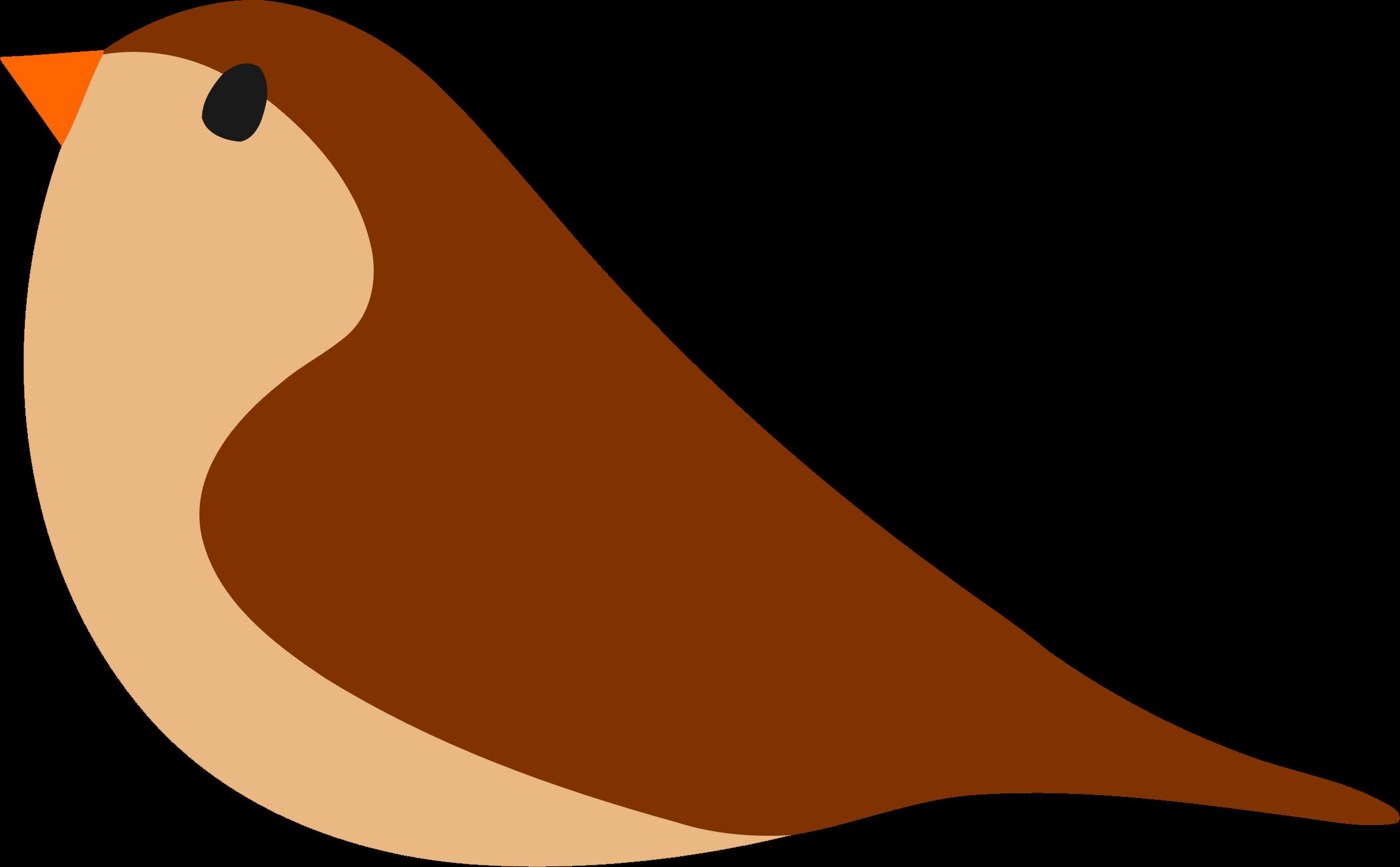Simple bird big image. Birds clipart basic