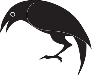 Free black image drawing. Bird clipart simple