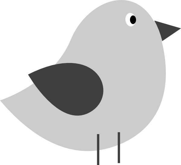 Bird clipart simple. Free silhouette at getdrawings