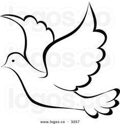 Bird clipart template. Dove pattern paper art