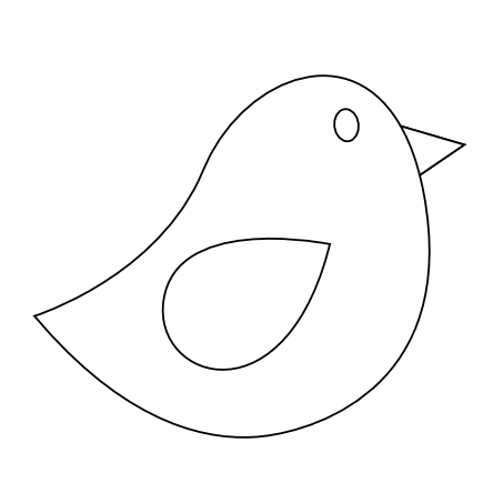 Colorful animal twitter black. Bird clipart template