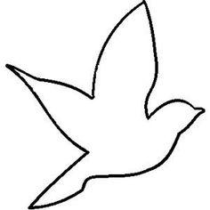 Bird clipart template. Outline incep imagine ex