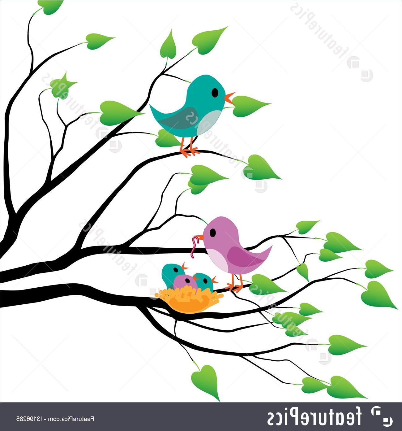 Best spring bird clip. Birds clipart tree