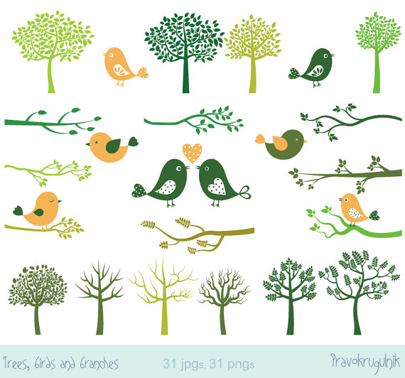 Clip art love birds. Bird clipart tree