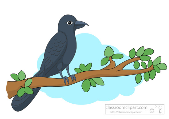 Animal cuckoo on branch. Bird clipart tree