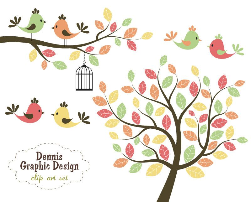 Bird clipart tree. Buy get free cute