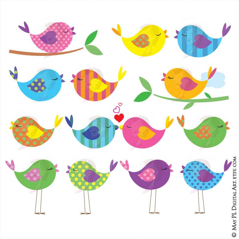 Animal clip art cute. Bird clipart vector