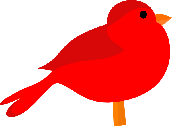 Red bird clip art. Cardinal clipart vector