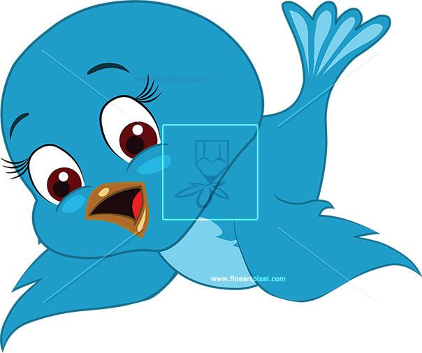 Cute free vectors illustrations. Bird clipart vector