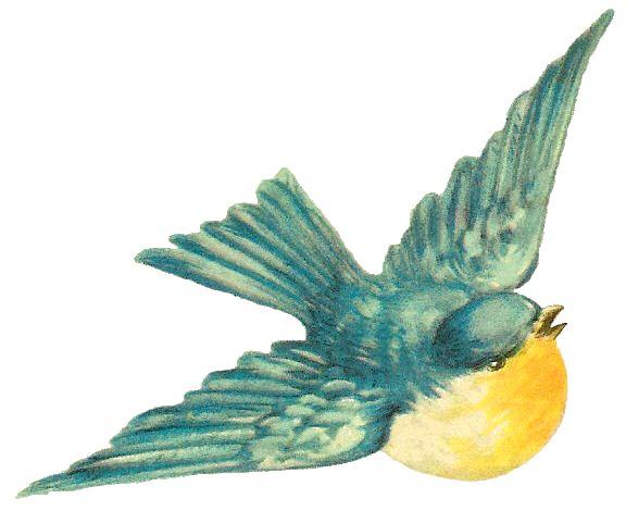 Bird clipart vintage.  best birdie clip