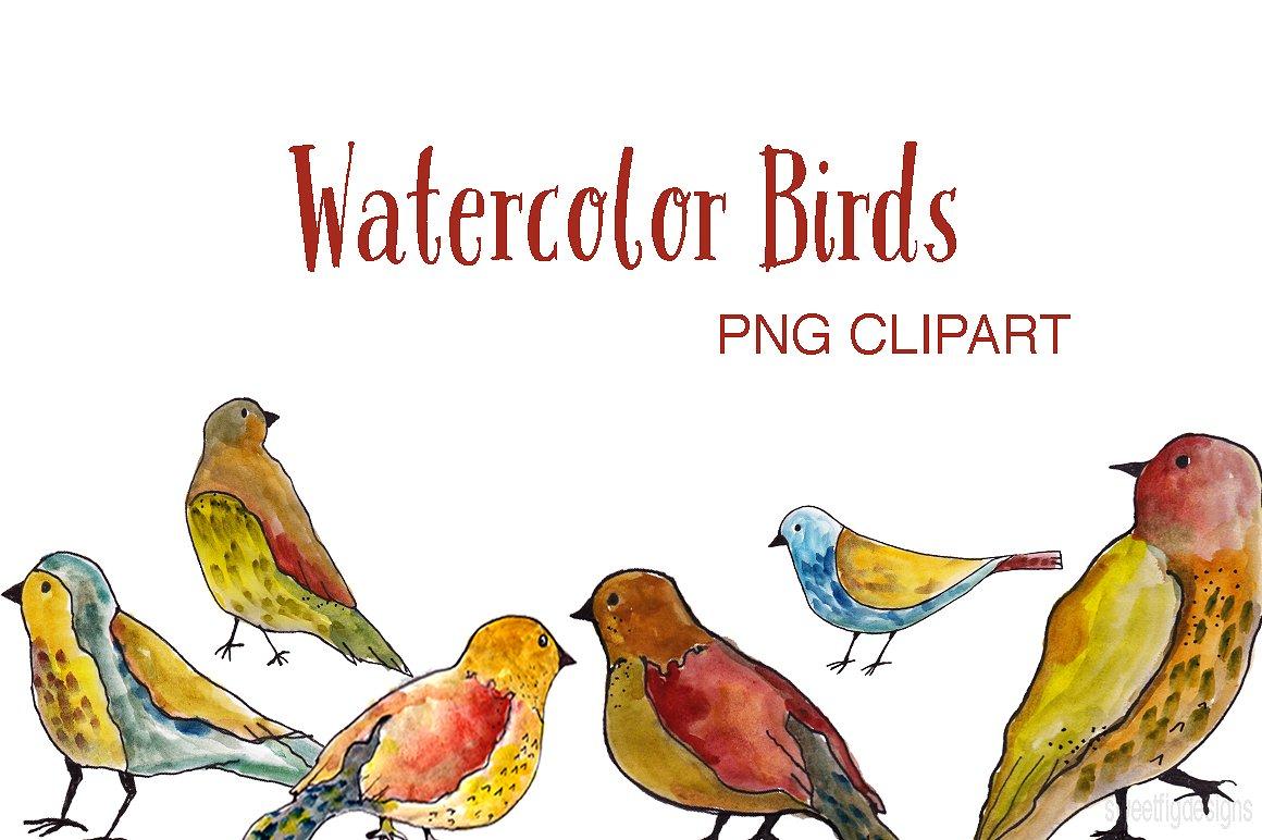 birds clipart watercolor