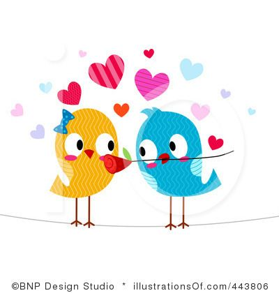 Bird clipart wedding. Love birds panda free