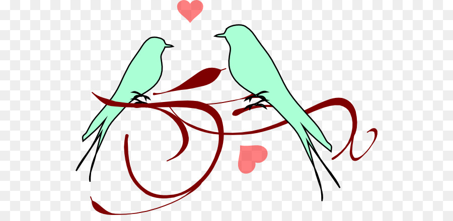Bird clipart wedding. Lovebird clip art birds